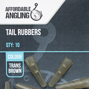 Tail Rubbers Trans Brown NO BG Max Size