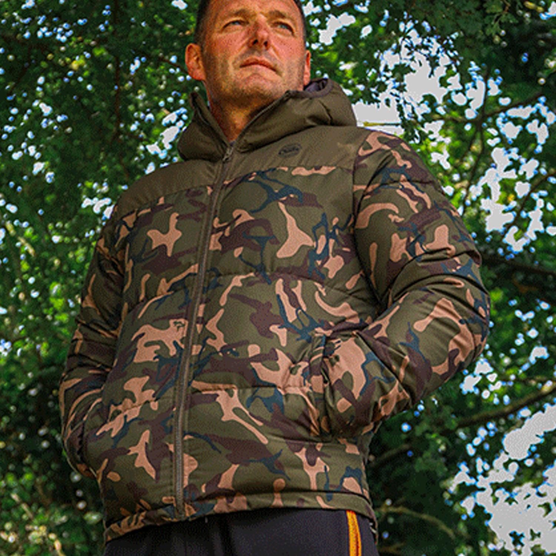 Carp Fishing Clothing Fox Chunk RS Camo Khaki Jacket